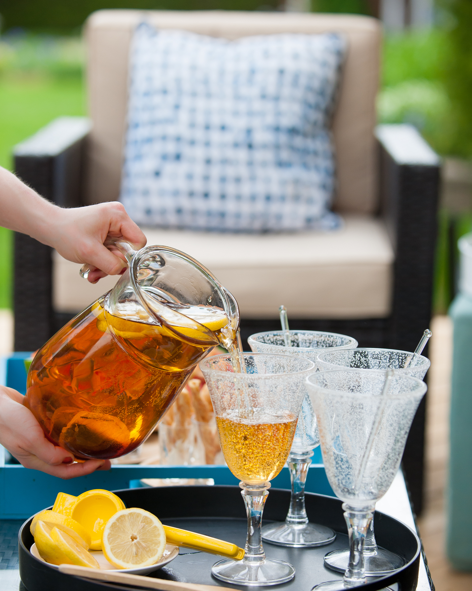 Party prep with patio furniture